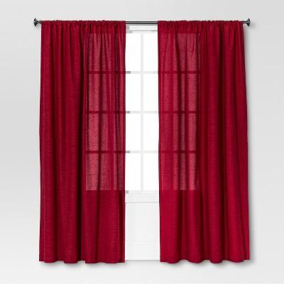 Farrah Curtain Panel Red (54 x108 )- Threshold™