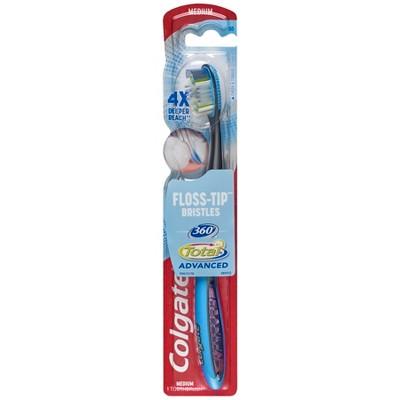 Colgate 360 Total Advanced Floss-Tip Bristles Toothbrush Medium