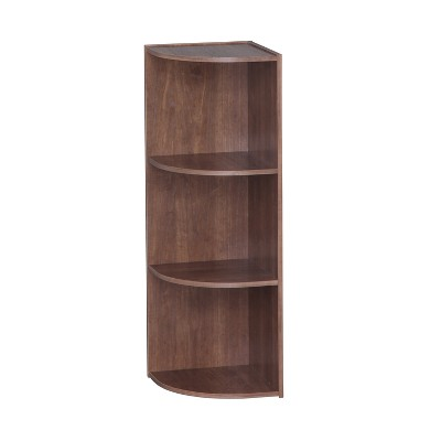 IRIS 3 Tier Corner Storage Shelf Brown