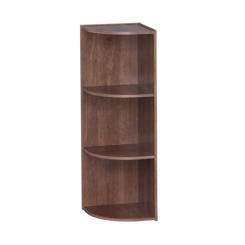 Image of IRIS 3 Tier Corner Storage Shelf - Brown