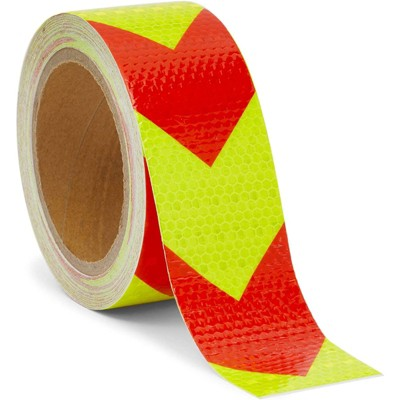 Stockroom Plus Waterproof Reflective Safety Tape, Yellow and Red (2 in x 30 Ft)