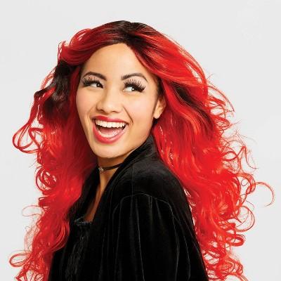 Womenu0027s Premium Sorceress Halloween Costume Wig Black/Red   Hyde U0026 EEK!  Boutique™