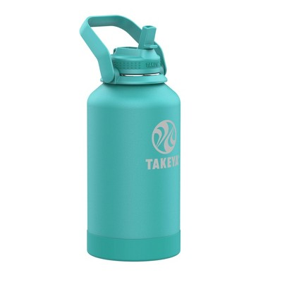 Takeya 64oz Actives Insulated Stainless Steel Water Bottle with Straw Lid and Extra Large Carry Handle