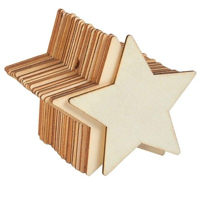 24-Pack Unfinished Wood Circle Round Wooden Cutout for DIY Craft Supplies