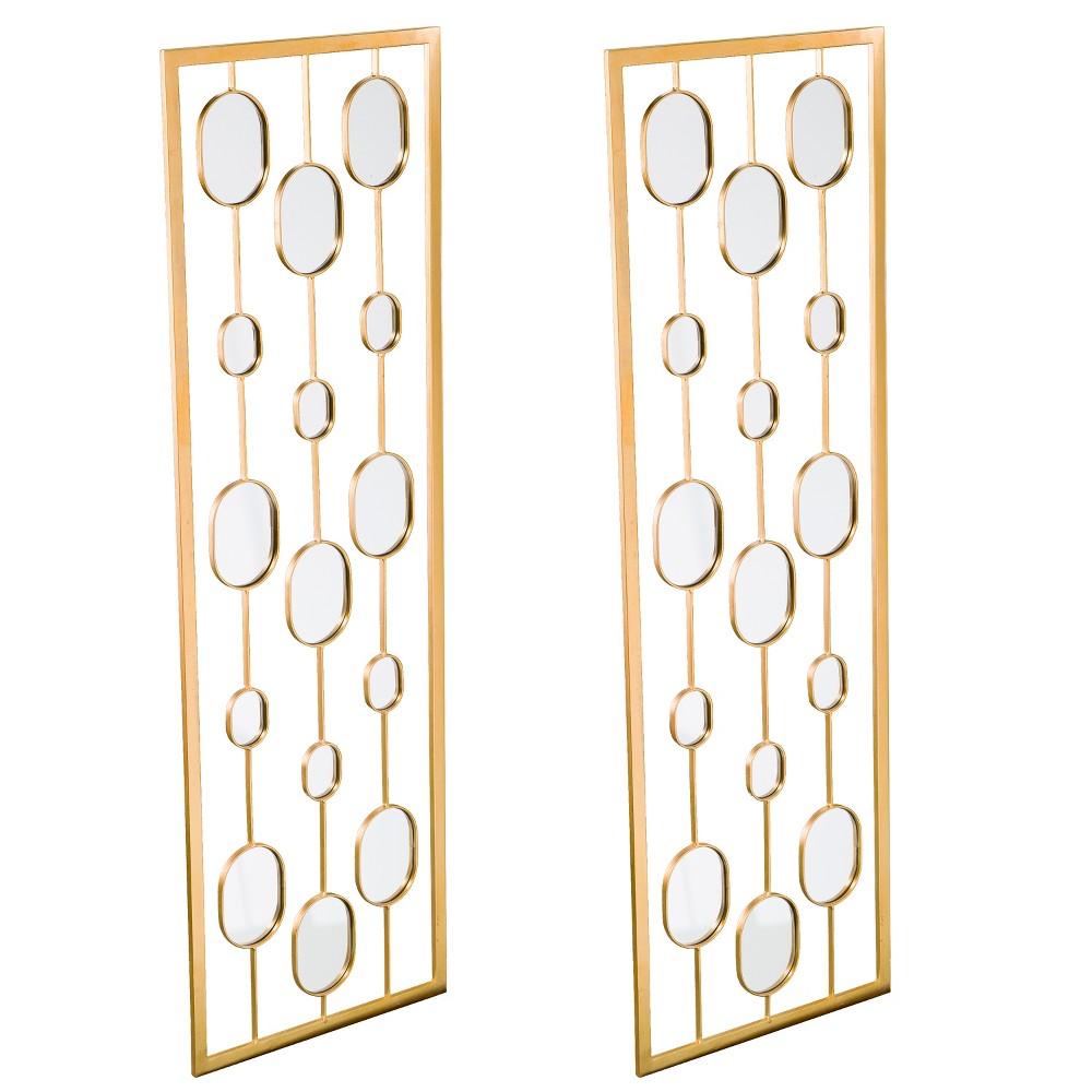 Image of Aiden Lane 2pc Sarova Decorative Wall Mirror Panels Gold