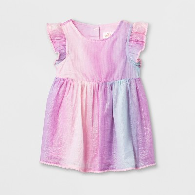 Baby Girls' Dress and Diaper Cover Set - Cat & Jack™ Rosado Pink 3-6M