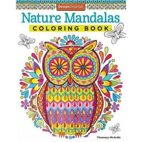 Nature Mandalas Adult Coloring Book Target