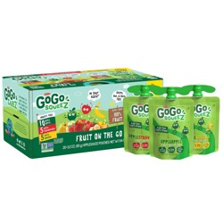 GoGo squeeZ Applesauce, Variety Apple/Banana/Strawberry - 3.2oz/20ct