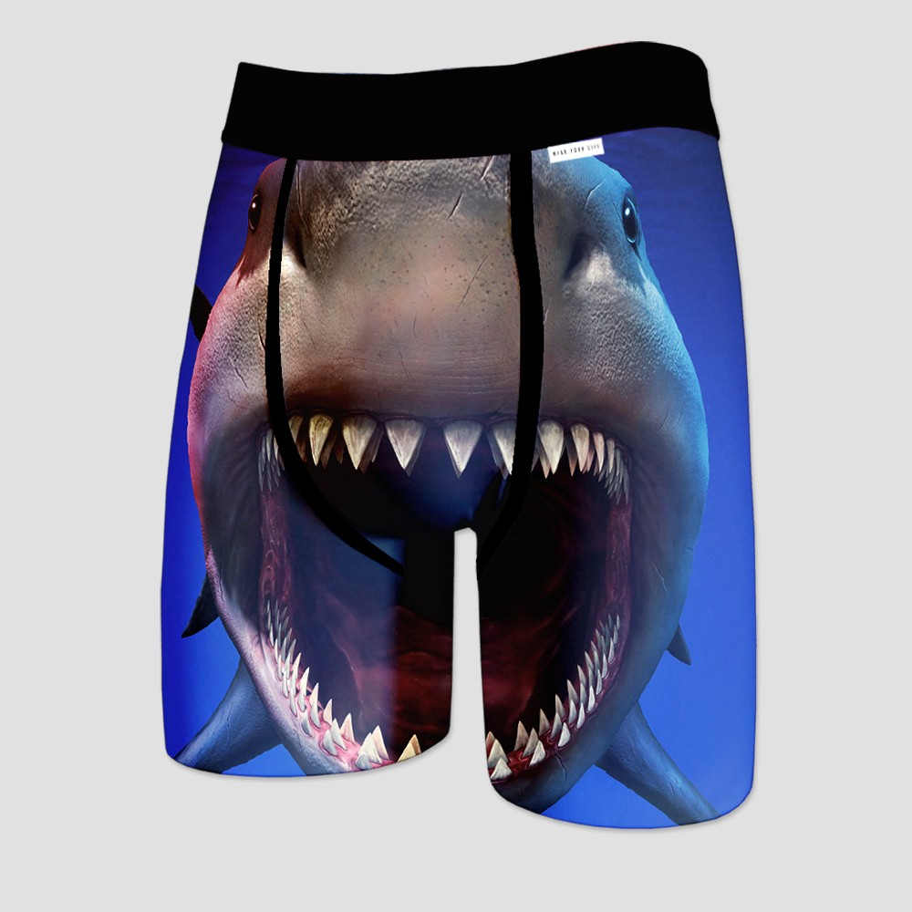 Wear Your Life Men's Shark Week Boxer Briefs - Blue S