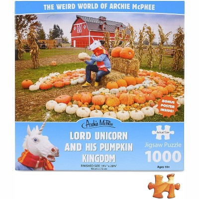 Accoutrements Unicorn and His Pumpkin Kingdom 1000 Piece Jigsaw Puzzle