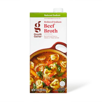 Reduced Sodium Beef Broth - 32oz - Good & Gather™