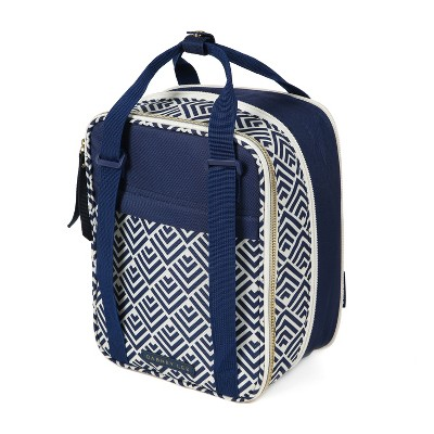 Arctic Zone Dabney Lee Expandable Lunch Pack - Navy/Cream Fish Scale