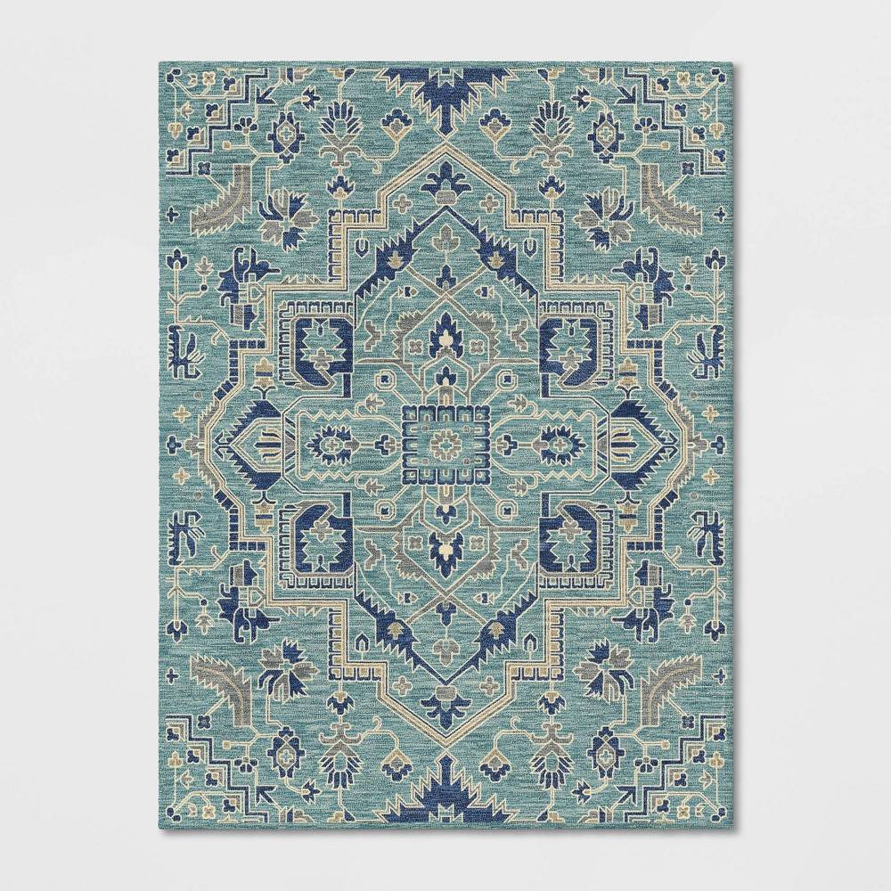 9'X12' Hyssop Jacquard Tufted Area Rug Teal - Opalhouse was $529.99 now $264.99 (50.0% off)