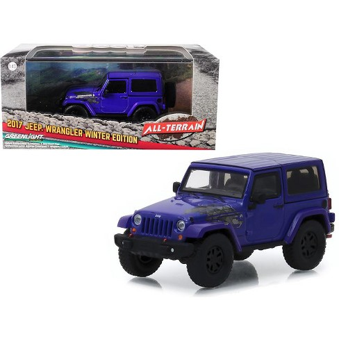 2017 Jeep Wrangler Winter Edition Xtreme Purple All Terrain Series 1 43 Cast Model Car By Greenlight Target