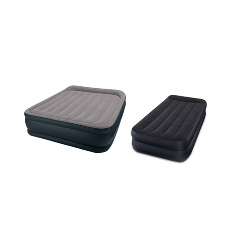 Intex Queen And Twin Pillow Rest Air Mattress Airbed Beds With Built