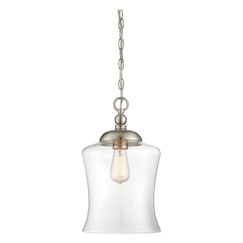 Image of Ceiling Lights Mini Pendant Brushed Nickel - Aurora Lighting