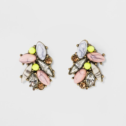 SUGARFIX by BaubleBar Crystal and Stone Stud Earrings - image 1 of 3