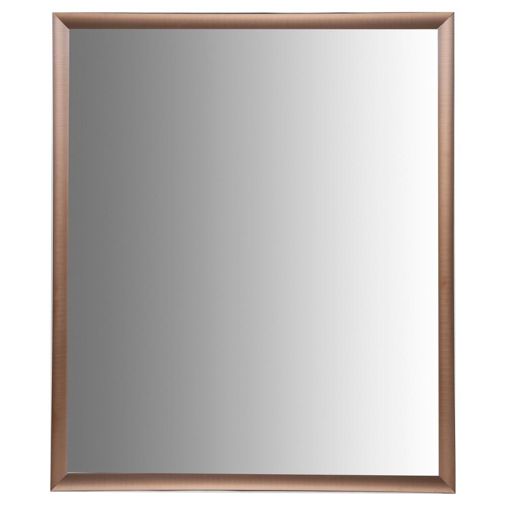 Image of 24X30 Brushed Bronze Aluminum Vanity Mirror, With 1 1/4 Wide Moulding - Bronze - Nielsen Bainbridge