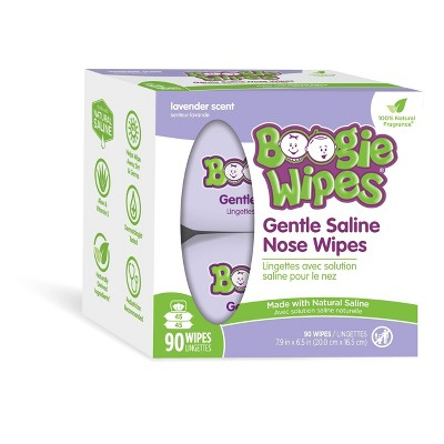Boogie Wipes Lavender Saline Nose Wipes - 90ct