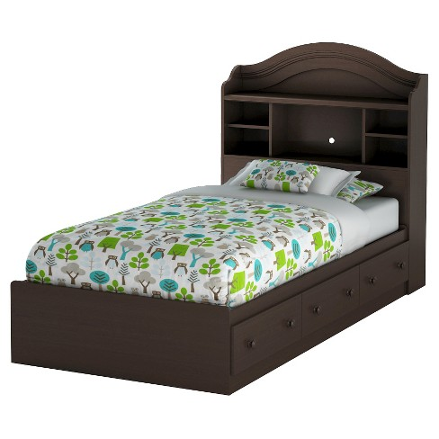 Summer Breeze Twin Mates Bed With Drawers & Bookcase Headboard Set