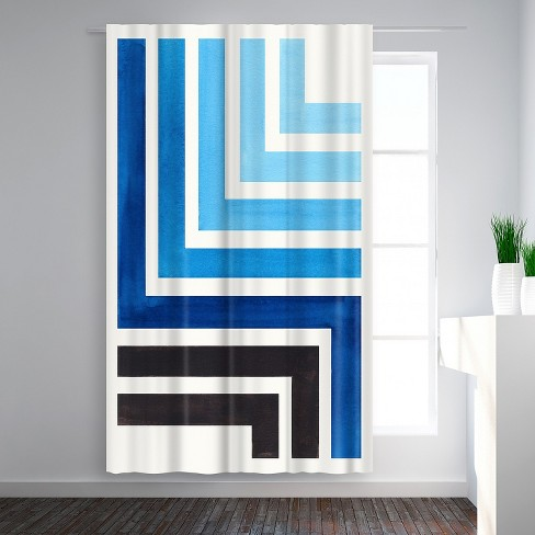 Americanflat Blue Aztec Pattern By Ejaaz Haniff Blackout Rod Pocket Single Curtain Panel 50x84 Target