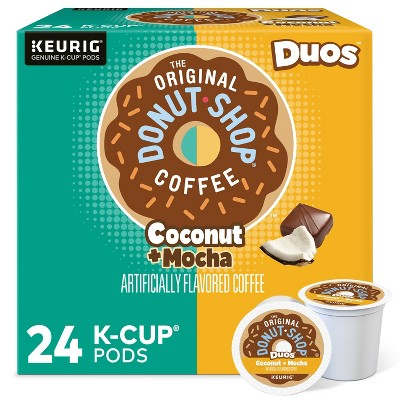 The Original Donut Shop Duos Coconut + Mocha Keurig Single-Serve K-Cup Coffee Pods, Medium Roast Coffee - 24ct