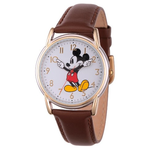 c9105aabeb72 Women s Disney Mickey Mouse Two Tone Cardiff Alloy Watch - Brown ...
