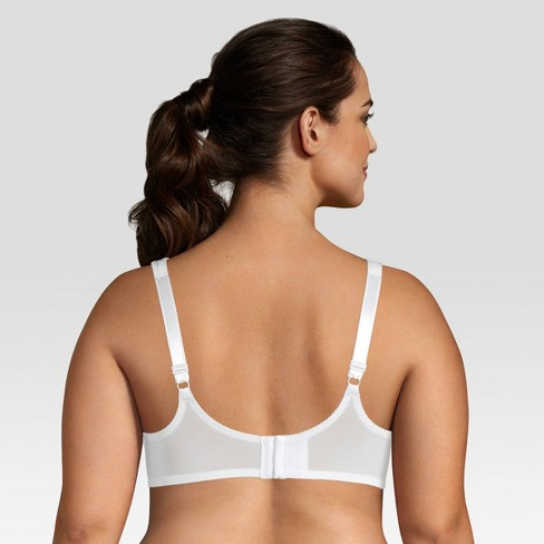 d3aa94295360 Bali® Women's Satin Tracings Underwire Minimizer Bra 3562 White - 46DDD :  Target
