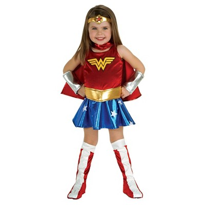 Wonder Woman Girl/'s Costume Justice League Superhero Fancy Dress Outfit