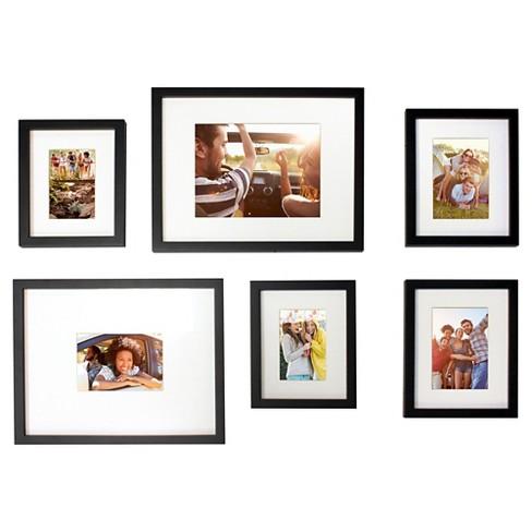 Picture Frame Set - Black - 6-Piece - Room Essentials™