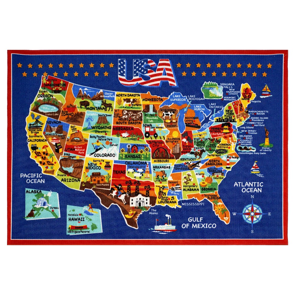 Image of Smithsonian United States of America Rug (5'x7')