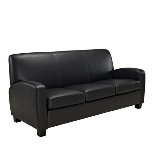Dallas Faux Leather Sofa Black - Dorel Living