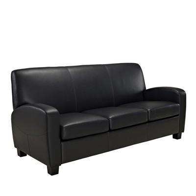 Genial Dallas Faux Leather Sofa Black   Dorel Living