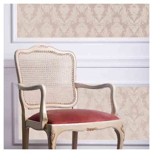 Tempaper Damsel Bisque Removable Wallpaper, Single Roll - Light Gold - image 1 of 2