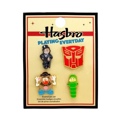 Hasbro Retro Toy Enamel Pin Set 4pk