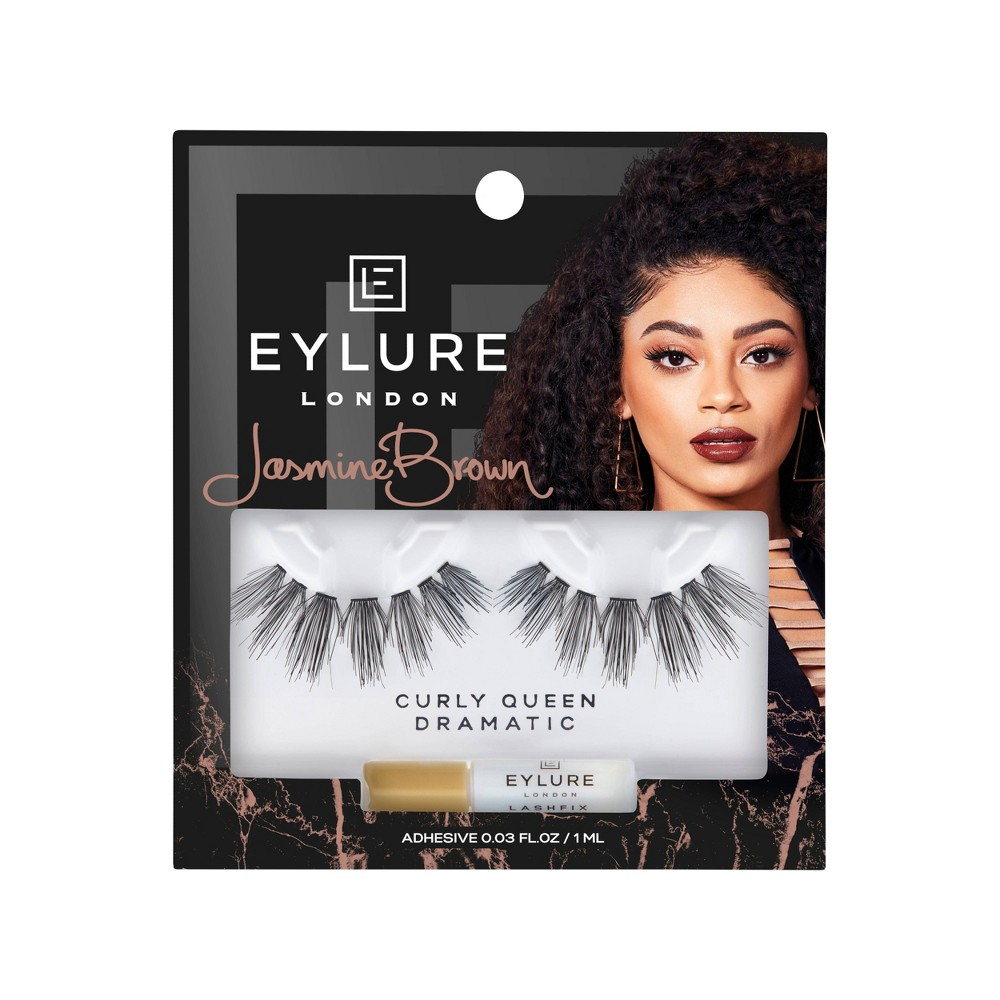 Image of Eylure False Eyelashes Jasmine Brown Curly Queen - 1pr
