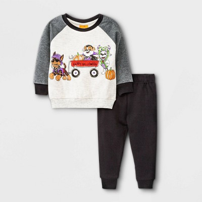Toddler Boys' PAW Patrol Halloween Pullover and Jogger Set - Gray