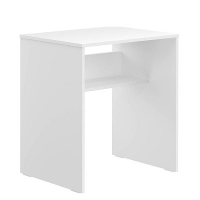 "28"" Harbor Study Desk with Storage Shelf White - Niche"