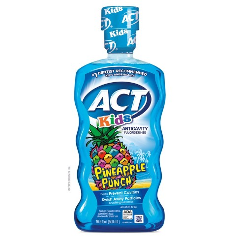 Act Kids Pineapple Punch Mouth Wash - 16.9 fl oz - image 1 of 4