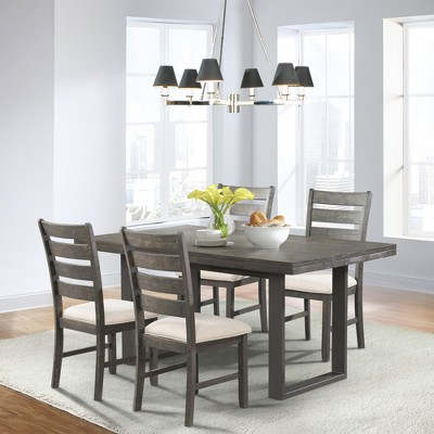 5pc Sullivan Dining Set Table And 4 Side Chairs Dark Ash - Picket House Furnishings