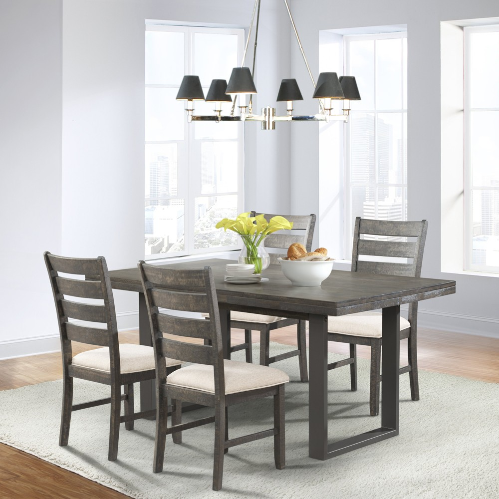 Sullivan 5pc Dining Set Table And 4 Side Chairs Dark Ash - Picket House Furnishings