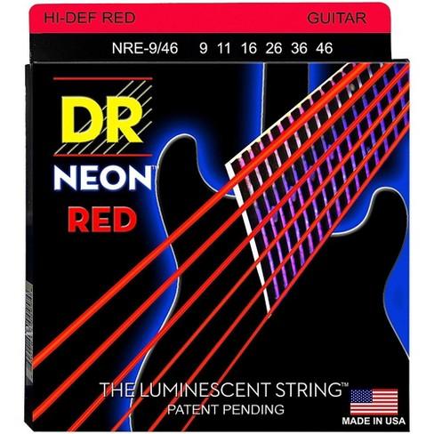 DR Strings Hi-Def NEON Red Coated Lite-Heavy (9-46) Electric Guitar Strings - image 1 of 1