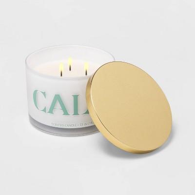 15oz Lidded Glass Jar CALM 3-Wick Wild Flowers Candle - Opalhouse™