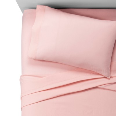 Toddler 100% Cotton Sheet Set Light Pink - Pillowfort™