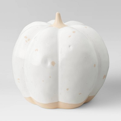"""4.8"""" x 5"""" Decorative Ceramic Pumpkin Cream - Threshold™"""
