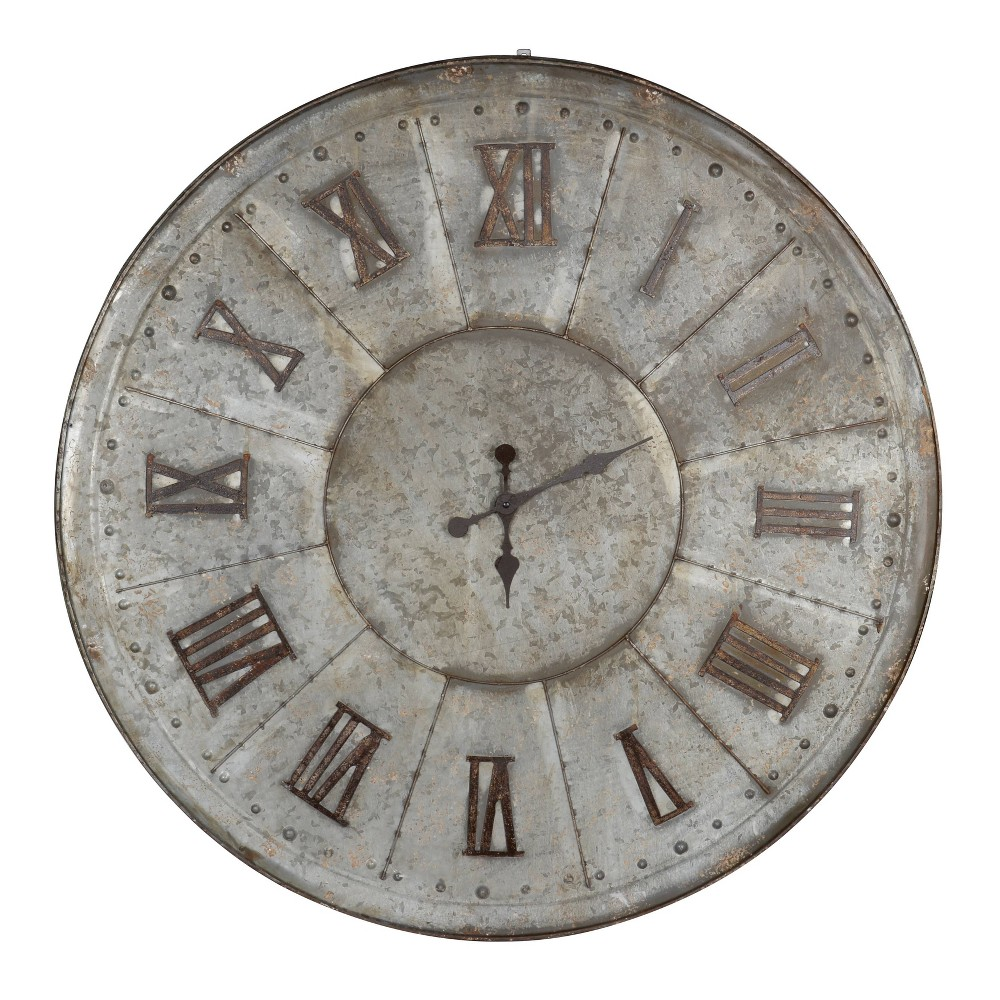 Image of 39'' Clock Silver - A&B Home