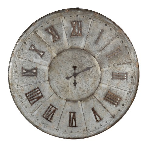39'' Clock Silver - A&B Home - image 1 of 1