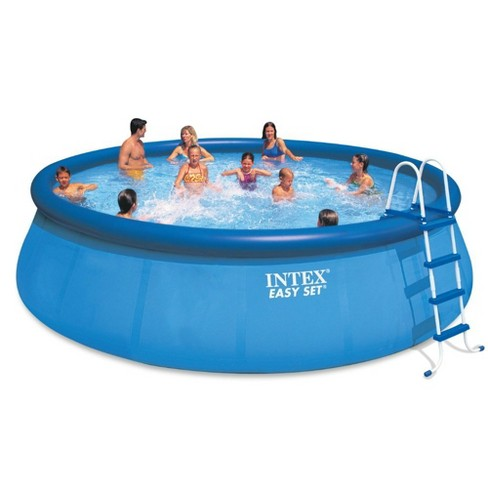 Intex 18ft x 48in Easy Set Above Ground Pool with Pump & Krill Automatic  Vacuum