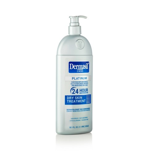 Dermasil Platinum 24 Hour Dry Skin Treatment Body Lotion - 18.1 fl oz - image 1 of 2