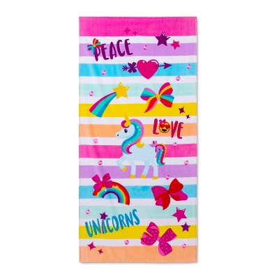 Peace Love Beach Towel Pink - JoJo Siwa